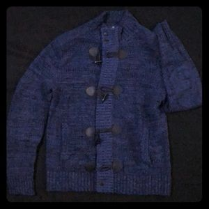 Express Men's NavyBlue Sweater w/ zipper & buckle!